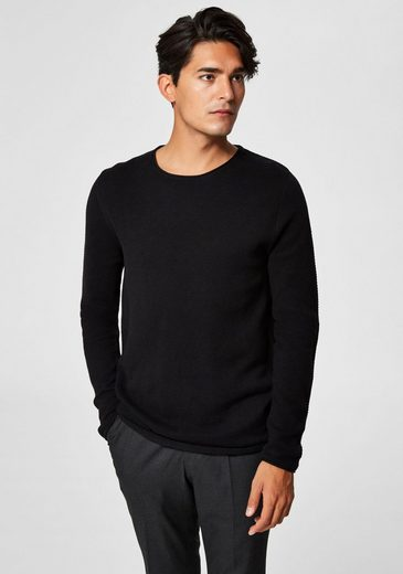 SELECTED HOMME Rundhalspullover »ROCKY CREW NECK«