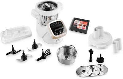 Krups Küchenmaschine mit Kochfunktion HP5031.HSE Prep&Cook, Gratis: Gemüseschneider XF551D im Wert von 79,99, 1550 W, 4,5 l Schüssel