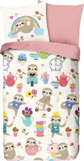 Kinderbettwäsche »Buzzy«, good morning, mit niedlichen Faultieren