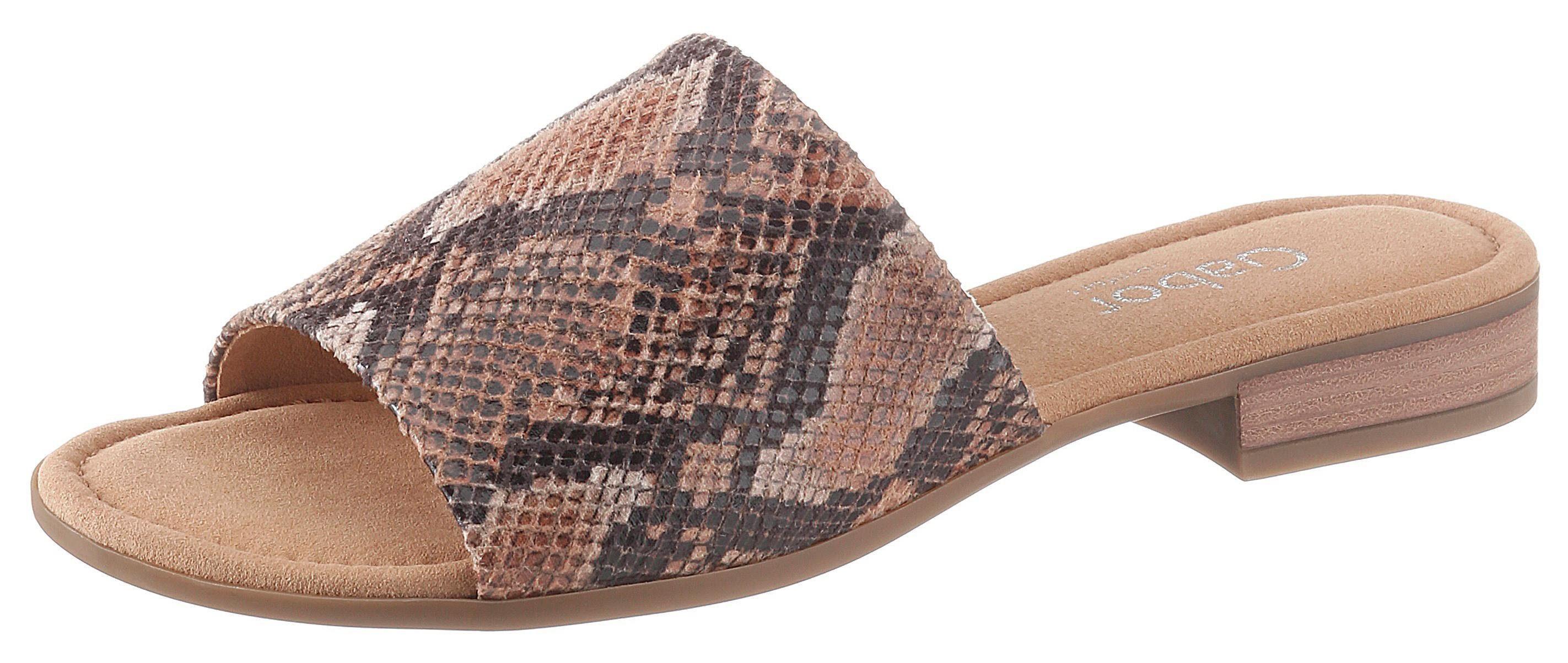 Gabor Pantolette in Reptilienoptik, Softe Textilinnenausstattung online kaufen   OTTO
