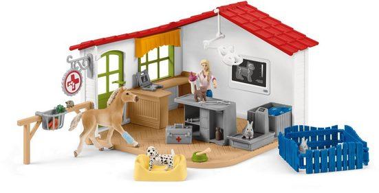 Schleich® Spielfigur »Farm World, Tierarzt-Praxis mit Haustieren (42502)«, (Set)