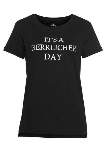 Herrlicher T-Shirt »KENDALL« mit Statement-Print