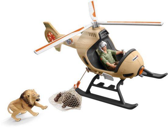 Schleich® Spielwelt »Wild Life, Helikopter Tierrettung (42476)«, (Set), Made in Europe