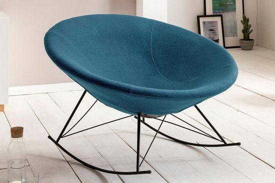 SalesFever Schaukelsessel, mit schalenförmigem Sitz