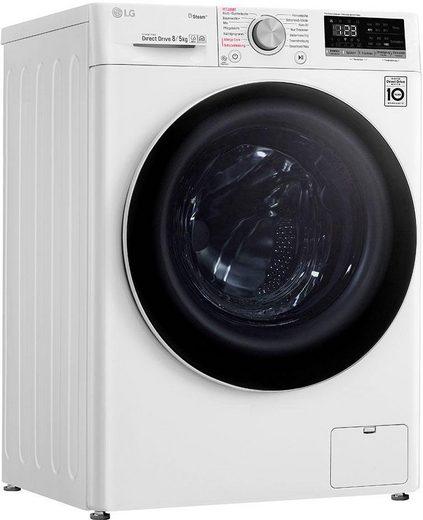 LG Waschtrockner 4 V4 WD 85S1, 8 kg, 5 kg 1400 U/min, mit Dampftechnologie