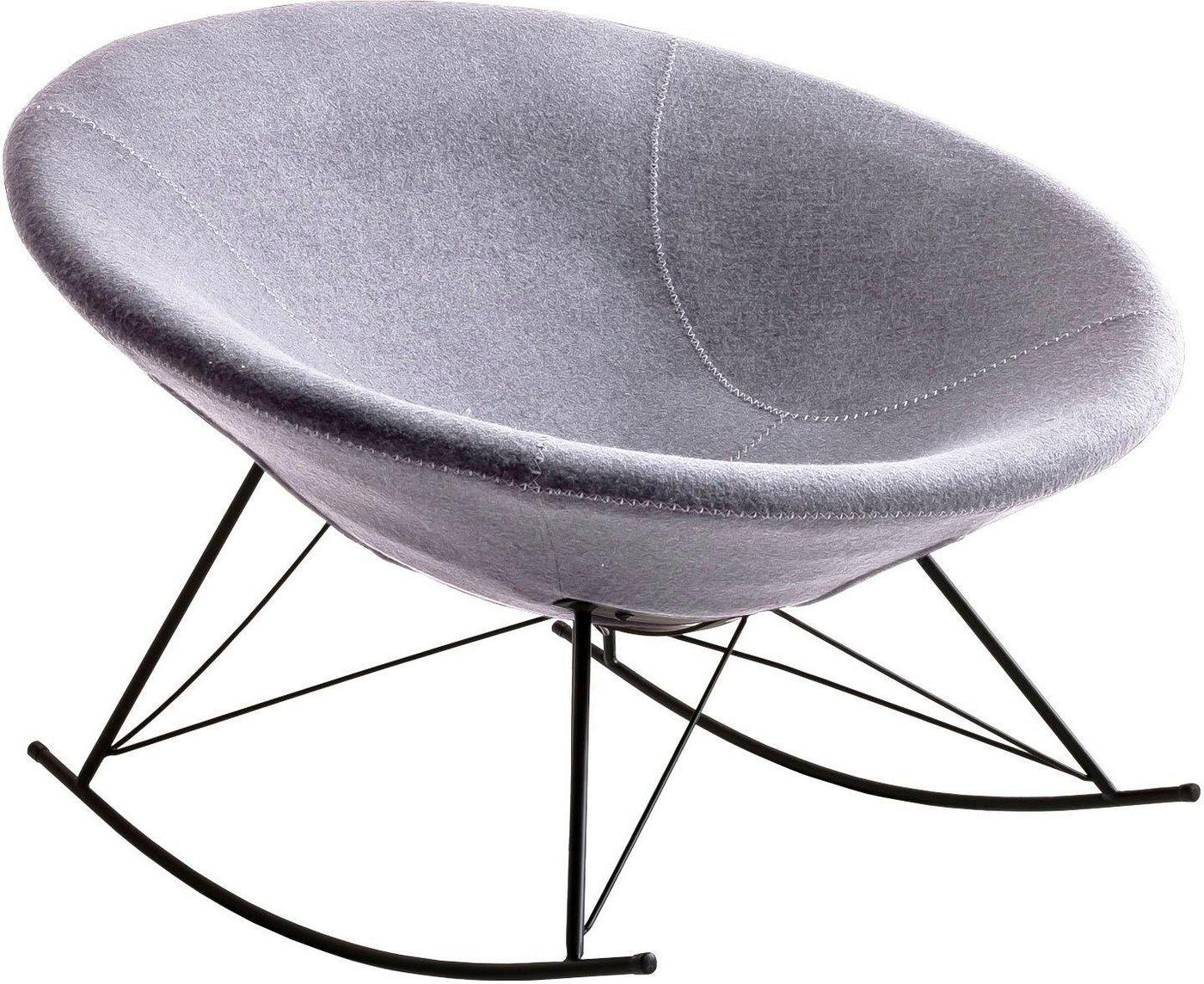 Schaukelsessel modern mit Schalensitz & Lounge Charakter*