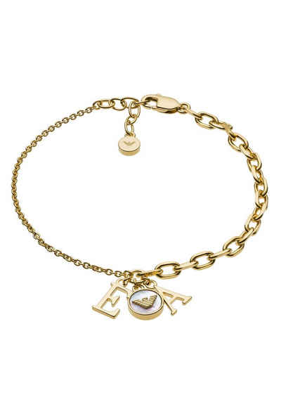 Emporio Armani Armband »ESSENTIAL - CHARMED & CHAINED ST, EG3422710«, mit Perlmutt