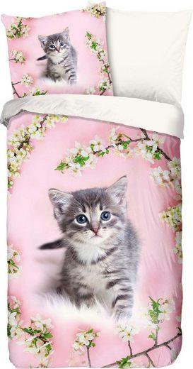 Kinderbettwäsche »Pussycat«, good morning, mit Katze