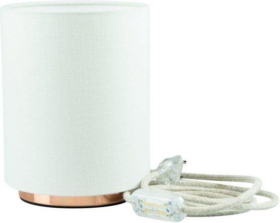 SEGULA Tischleuchte »Tischlampe - Kupfer-Weiß, 2m Baumwollkabel mit Schalter«, 1-flammig, Mit Schalter