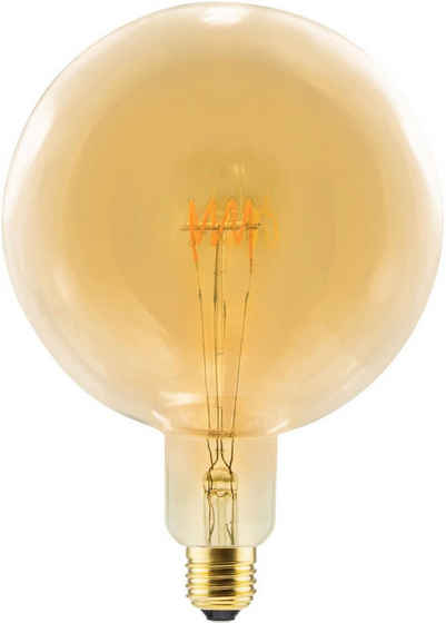 SEGULA »LED Grand Globe Curved, 8W, Spirale, gold, E27« LED-Filament, E27, Extra-Warmweiß, Große LED Globe mit E27 Fassung