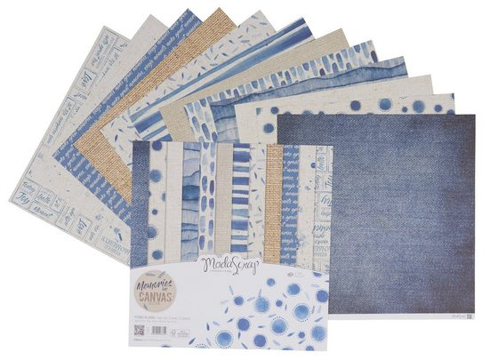 "Scrapbook-Papier ""Memories on Canvas"" 12 Blatt"