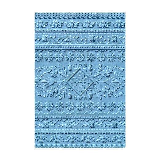 "Sizzix 3D-Prägeschablone ""Folk Art Pattern"" 16,5 cm x 11,4 cm"