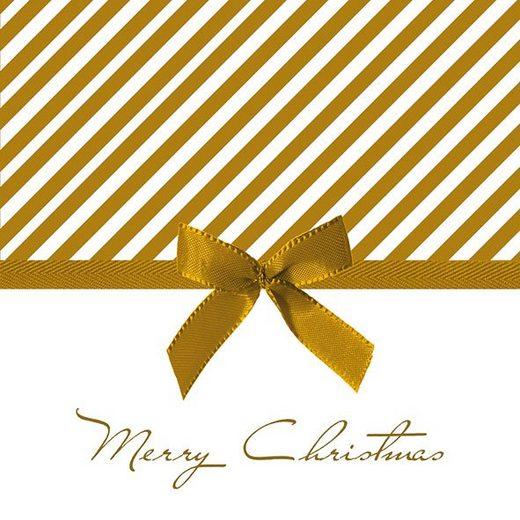 """Ambiente Serviette """"Merry Christmas, Gold"""" 33 cm x 33 cm"""