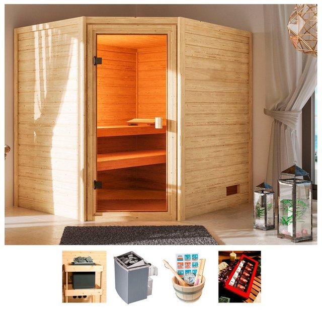 Saunen und Zubehör - KARIBU Sauna »Elli«, 195x169x187 cm, 9 kW Ofen mit int. Steuerung  - Onlineshop OTTO
