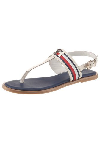 TOMMY HILFIGER Basutės »CORPORATE LEATHER FLAT SANDAL...