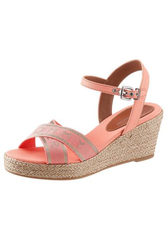 TOMMY HILFIGER Basutės »TOMMY METALLIC MID WEDGE SAND...