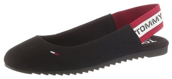 Tommy Jeans »CHUNKY TAPE SLINGBACK BALLERINA« Sneaker Ballerinas mit Logoschriftzug an der Ferse