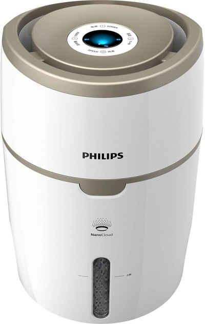 Philips Luftbefeuchter HU4816/10, 4 l Wassertank, 2000 Series, mit NanoCloud Technologie, für Räume bis 44 m²