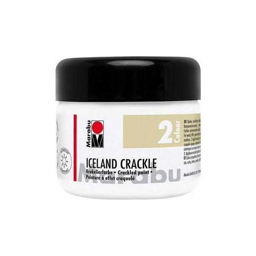 Marabu Iceland Crackle Krakelierfarbe, Edelweiß 225 ml