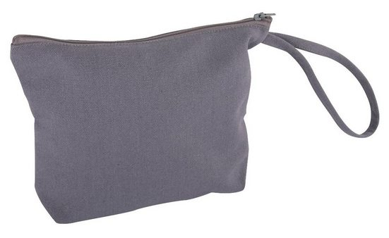 """Tasche mit Reißverschluss """"Kosmetikbeutel grau"""" 22 cm x 17 cm"""
