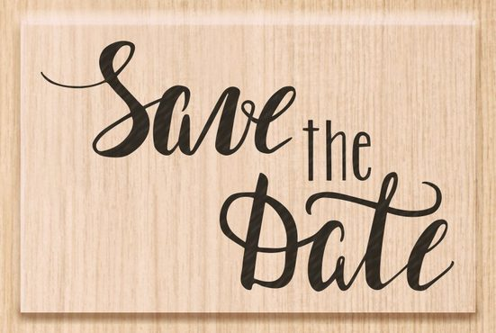 "Heyda Holzstempel ""Save the Date"" 6,2 cm x 3,9 cm"