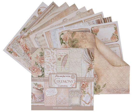 "Stamperia Scrapbook-Block ""Ceremony"" 10 Blatt"