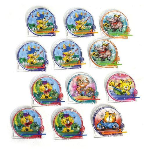 Funny Fashion Pinball-Spiel Tiere, 12 Stück