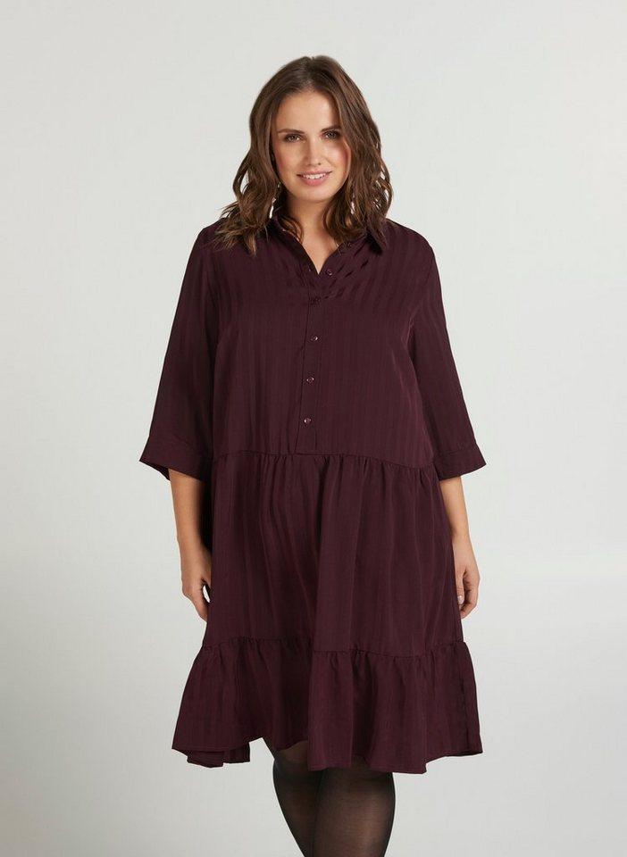 Festtagsmode - Zizzi Abendkleid Große Größen Damen mit 3 4 Ärmeln und Blusenkragen ›  - Onlineshop OTTO