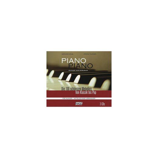 Piano Piano, mittelschwer arrangiert, 3 Audio-CDs