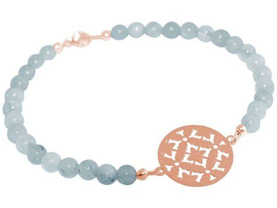 Gemshine Perlenarmband »YOGA Mandala Aquamarin«, Made in Germany