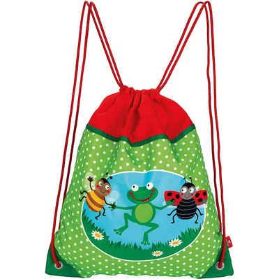 LÄSSIG*4kids*Mini String Bag*Schule*Einschulung*Turnbeute*Shark ocean*