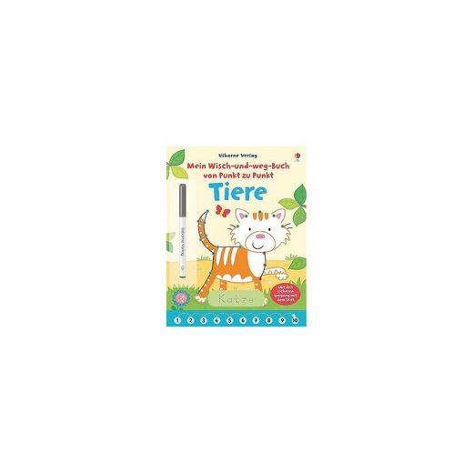 Usborne Verlag Mein Wisch-und-weg-Buch von Punkt zu Punkt: Tiere