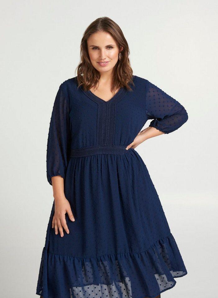 Festtagsmode - Zizzi Abendkleid Große Größen Damen mit Gummizug in der Taille ›  - Onlineshop OTTO