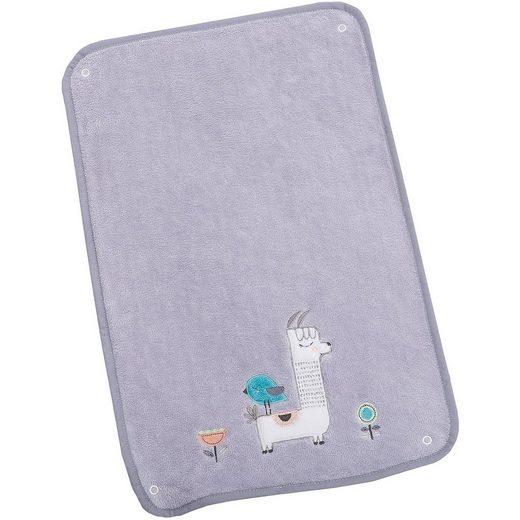 Be Be's Collection Frotteeauflage für Wickelauflage klein, mit Stickerei Lama
