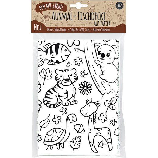 Mal Mich Bunt Ausmal-Tischdecke aus Papier: Zoo & Natur