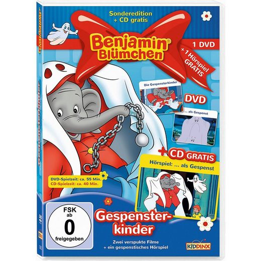 Kiddinx DVD Benjamin Blümchen - Gespensterkinder (2 DVD u 1 CD)