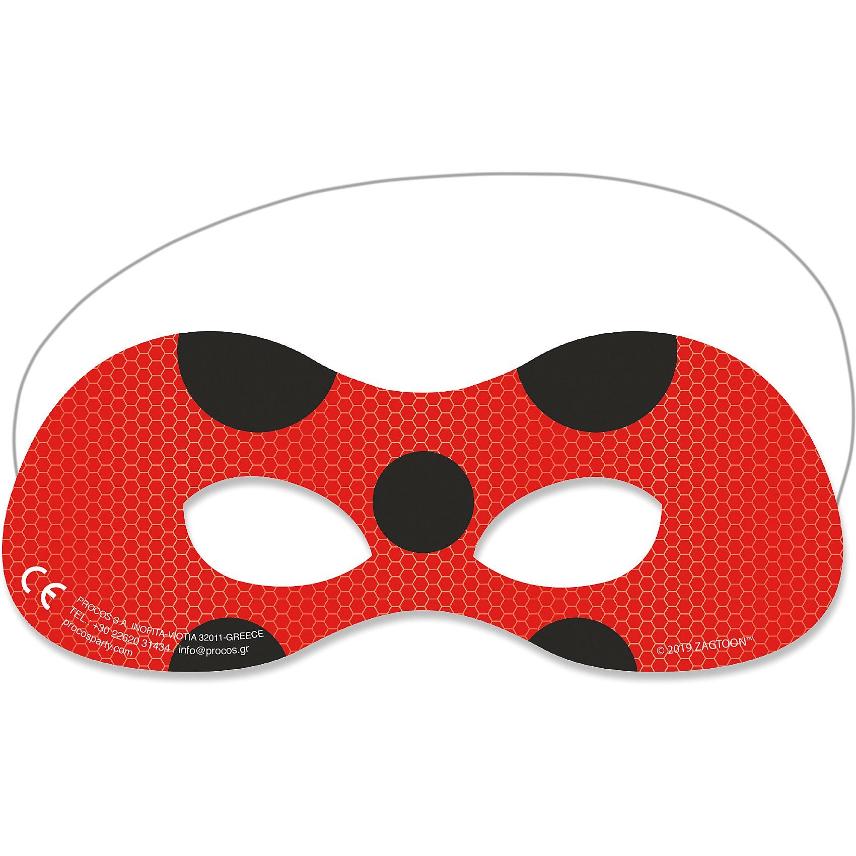 Unisex Procos Miraculous Ladybug 6 Masken  | 05201184913529