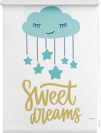 Seitenzugrollo »Sweet Dreams«, Lüttenhütt, verdunkelnd, ohne Bohren, im Fixmaß