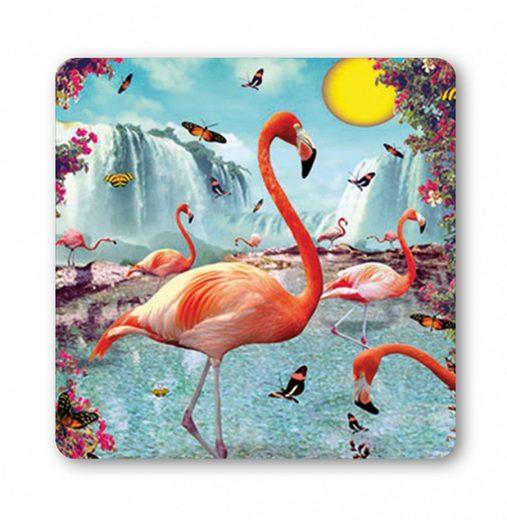 LOGOSHIRT Untersetzer mit tollem Flamingo-Print
