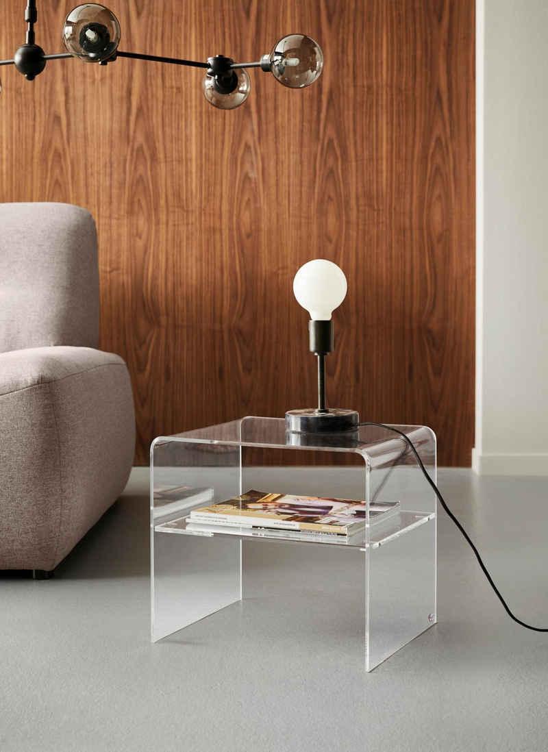 Places of Style Beistelltisch »Remus«, mit Ablagefach, aus Acrylglas