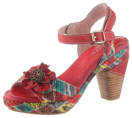 LAURA VITA »Ficnalo« High-Heel-Sandalette mit Zierblüte