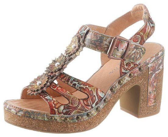 LAURA VITA »Hecalo« High-Heel-Sandalette mit modischen Zierblüten