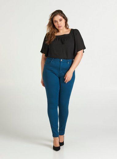 Zizzi Slim-fit-Jeans Amy Damen Jeans Super Slim Jeanshose Stretch Hose Große Größen