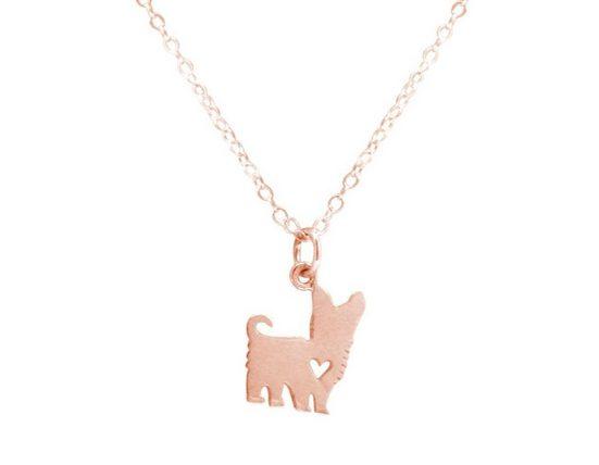 Gemshine Kette mit Anhänger »Yorkshire Terrier Hund 925 Silber«, Made in Spain