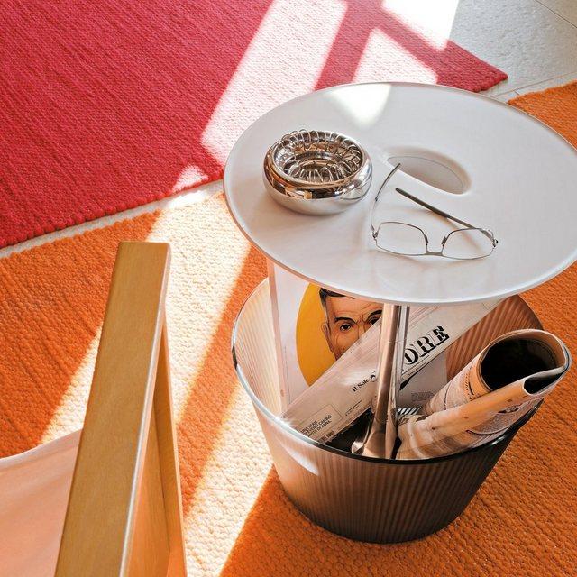 Wohnzimmertische - Alessi Alessi PICK UP Beistelltisch mit Ablage, silber  - Onlineshop OTTO