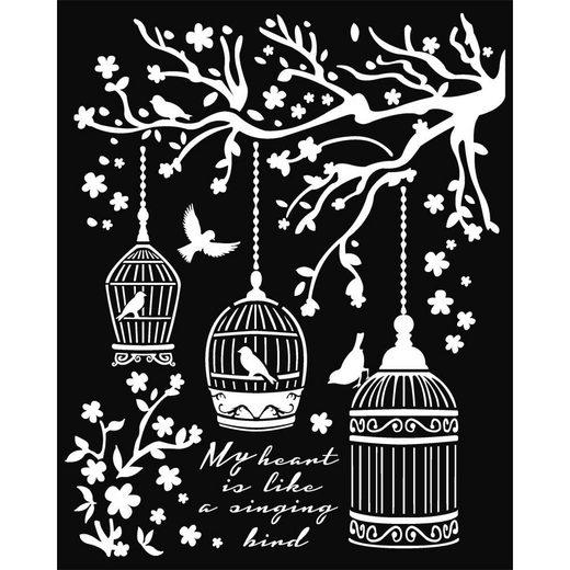 "Stamperia Schablone ""Little Cages"" 25 cm x 20 cm"