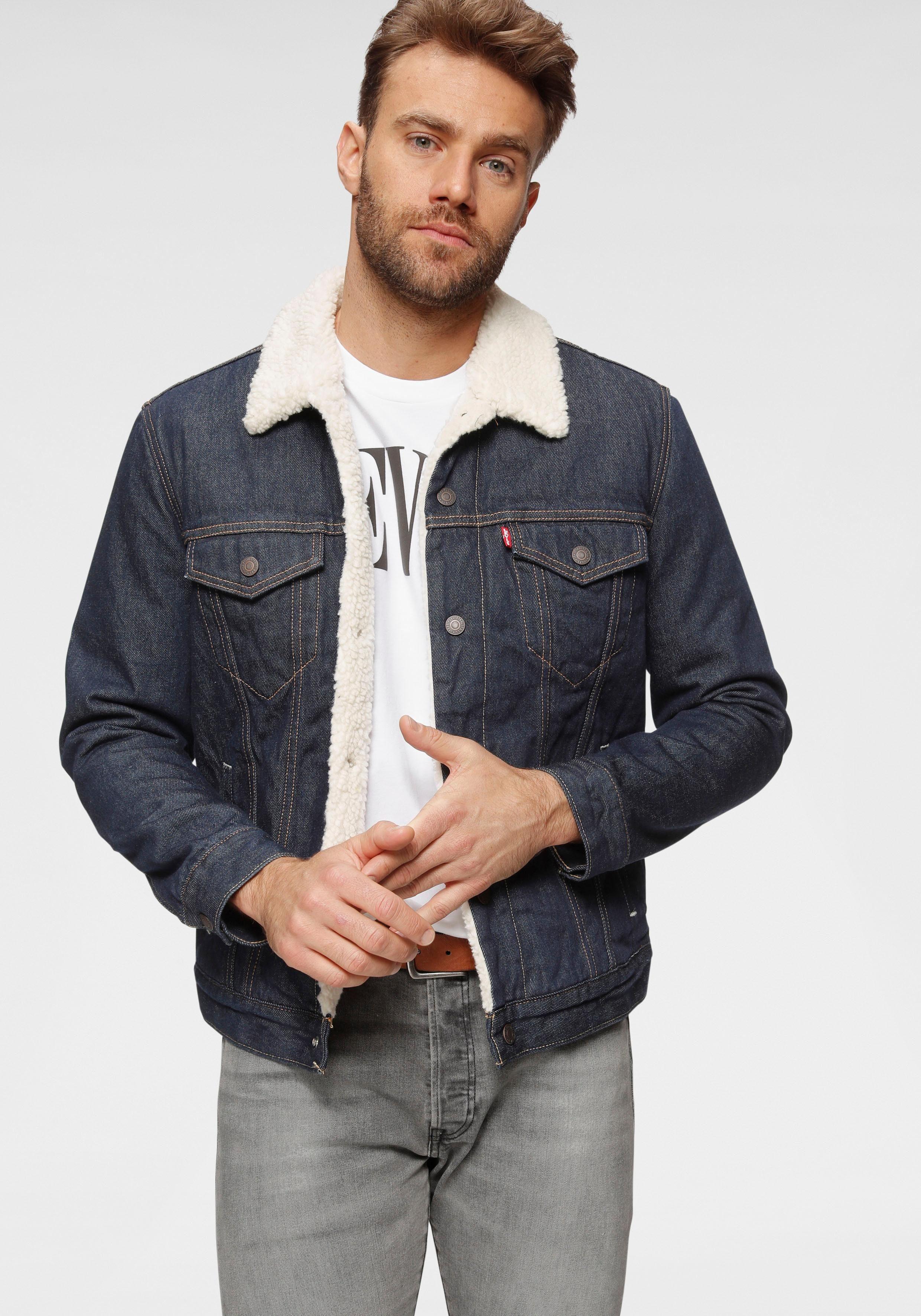 levi's herren jeansjacke jacke type 3 sherpa trucker