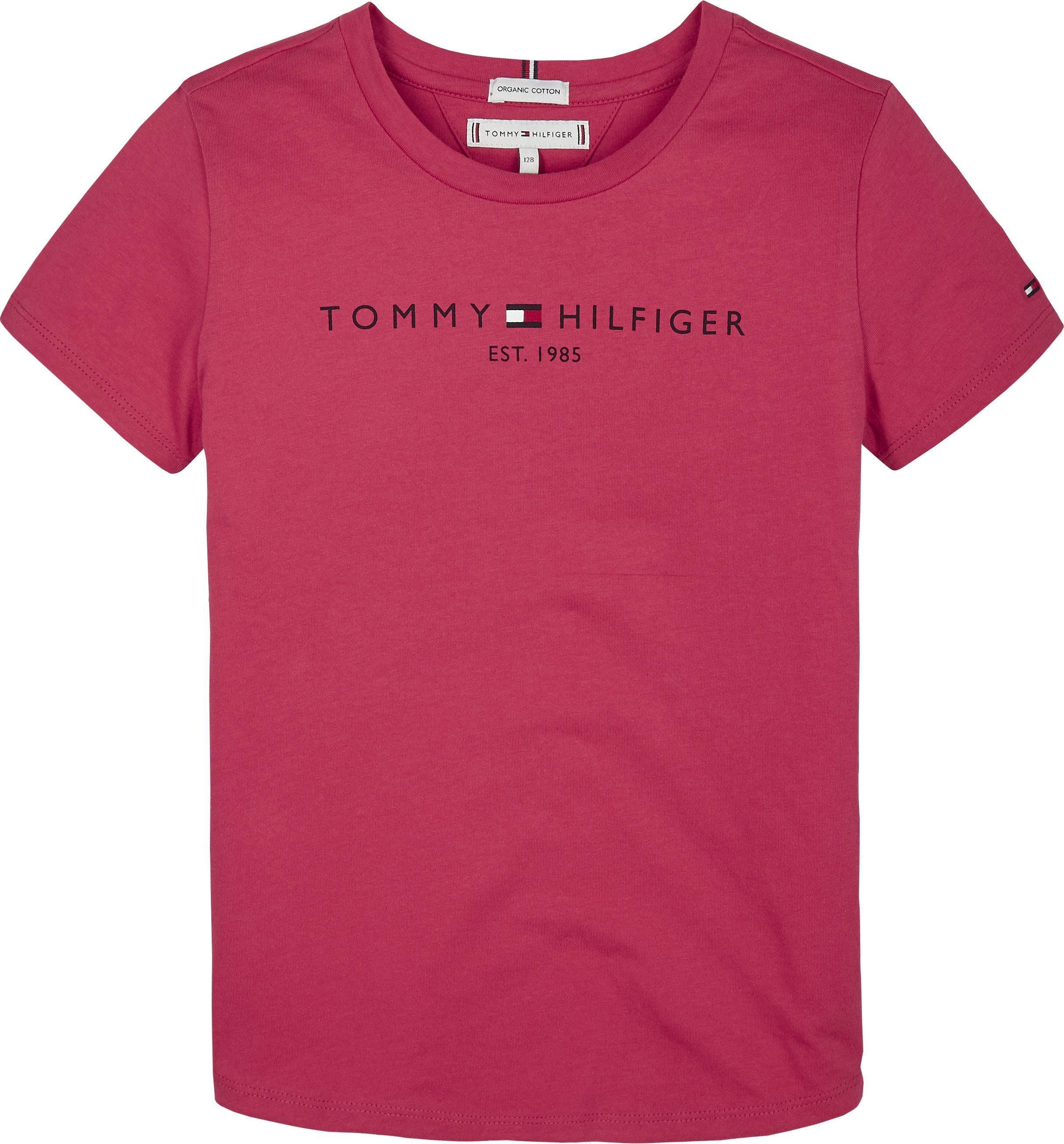 TOMMY HILFIGER T Shirt »ESSENTIAL TEE« in gerader Passform online kaufen | OTTO