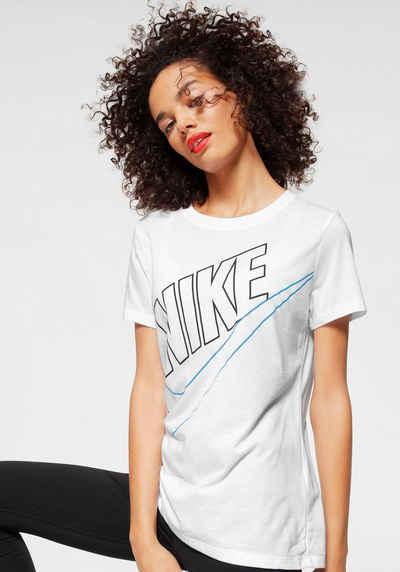 nike sportswear t shirt w nsw tee prep futura  alessa w shirt mit glitzerbandern damen bekleidung ojxzxqlsv #1