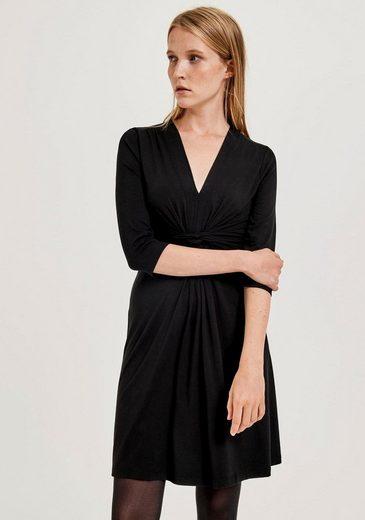 OPUS Jerseykleid »Waldina« mit Knoten-Detail